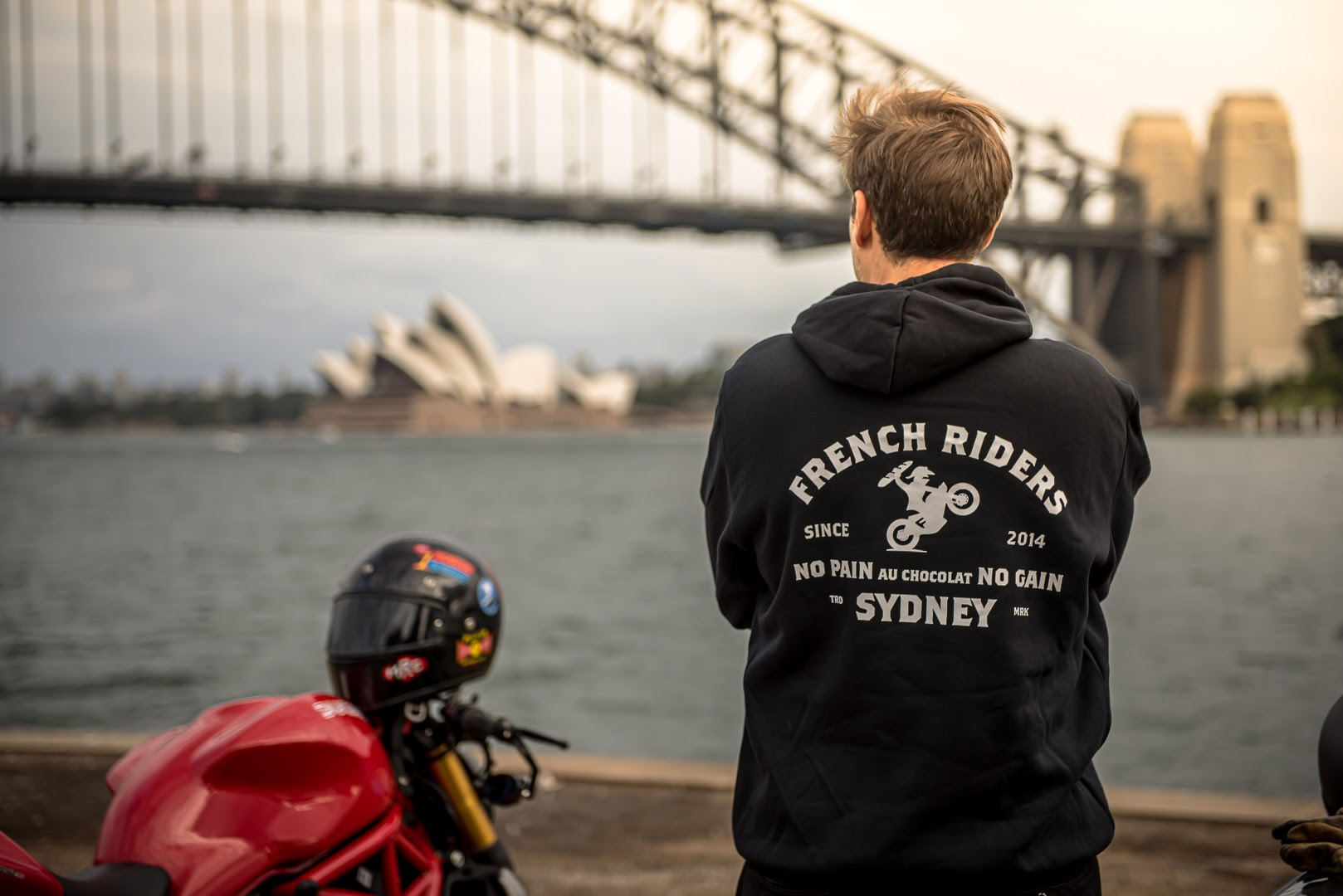 Sydney French Riders - Hoodie - No pain au chocolat NO gain - #sydfr